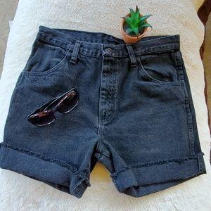 Rustler Black Jean Cutoff Shorts